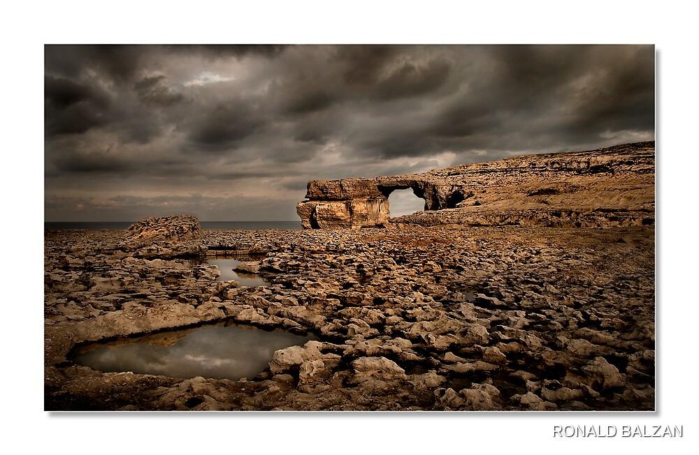Azzure Window Before the Storm by RONALD BALZAN