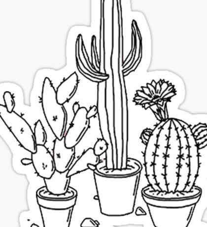 cactus sticker pack Sticker