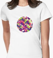 Painted Flowers - Zahara Women's Fitted T-Shirt
