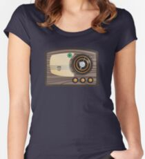 Vector Vintage Radio Women's Fitted Scoop T-Shirt