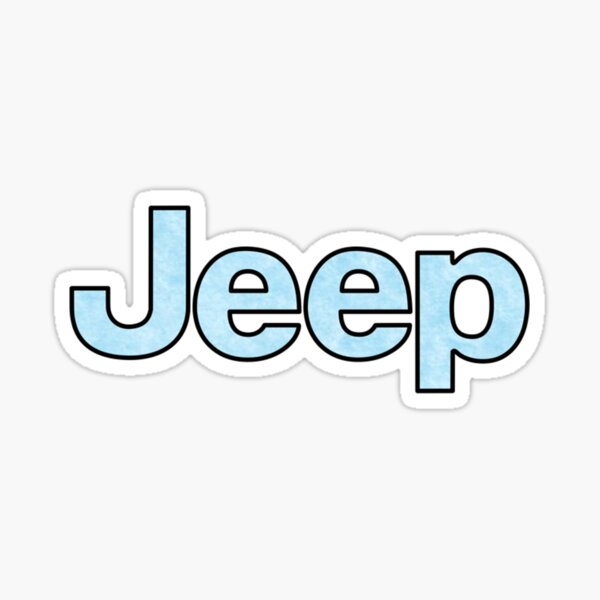 Jeep - Baby Blue Sticker