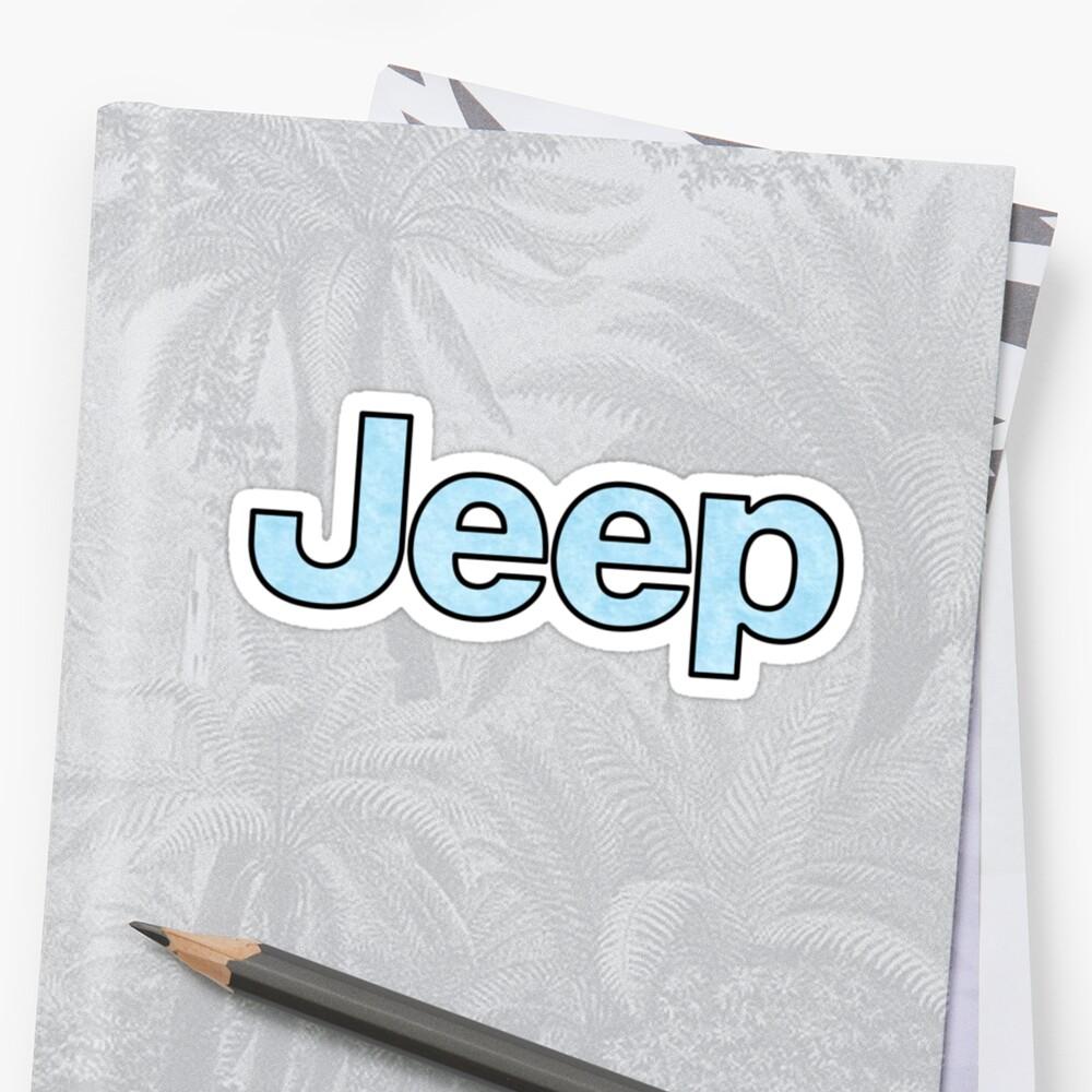 Jeep - Baby Blue Sticker