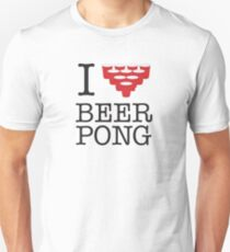 I Heart Beer Pong Unisex T-Shirt