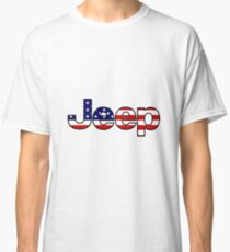 Jeep - amerikanische Flagge Classic T-Shirt
