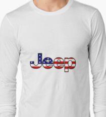 Jeep - American Flag Long Sleeve T-Shirt