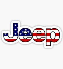 Jeep - American Flag Sticker