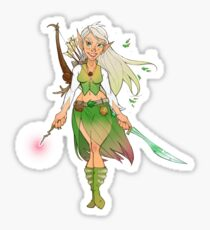 Elf Maid Adventurer Character Sheet Sticker