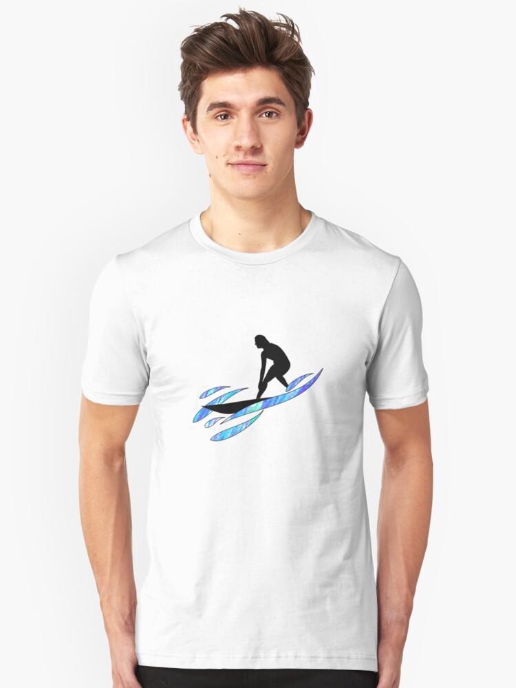 Wave rider t-shirts Unisex T-Shirt Front