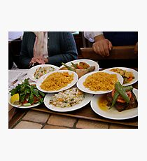 Turkish Lunch at the Lale Restaurant Photographic Print