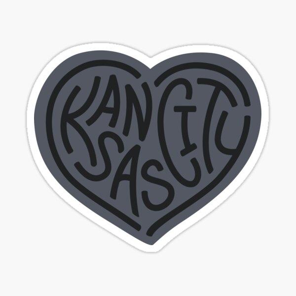 LOVE KC (grey x black) Sticker