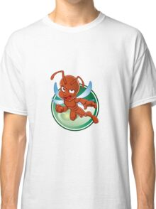 Cartoon red ant with wings Classic T-Shirt