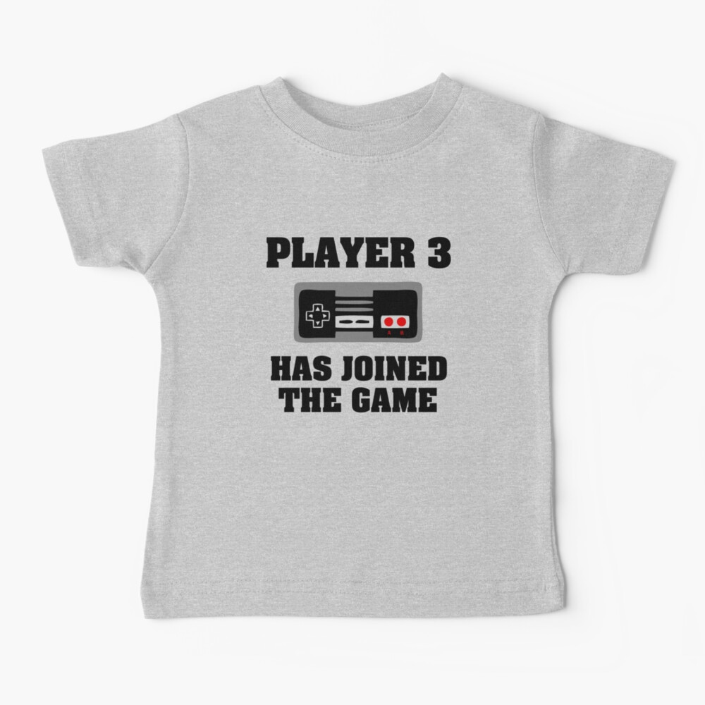 Player 3 has joined the game funny baby boy Baby T-Shirt