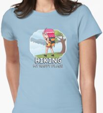 Hiking - My Happy Place Womens Fitted T-Shirt