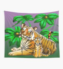 Jungle Tigers Wall Tapestry