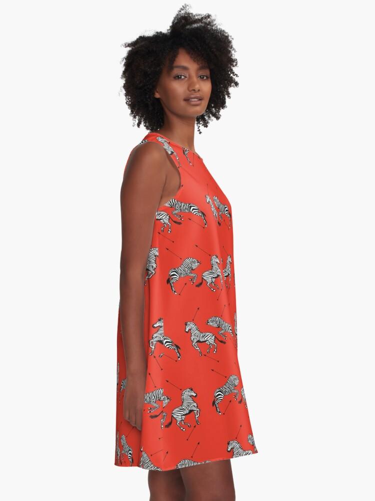 Alternative Ansicht von Muster der königlichen Tenenbaums A-Linien Kleid