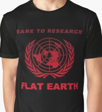 Dare to Research Flat Earth - CLASSIC Graphic T-Shirt