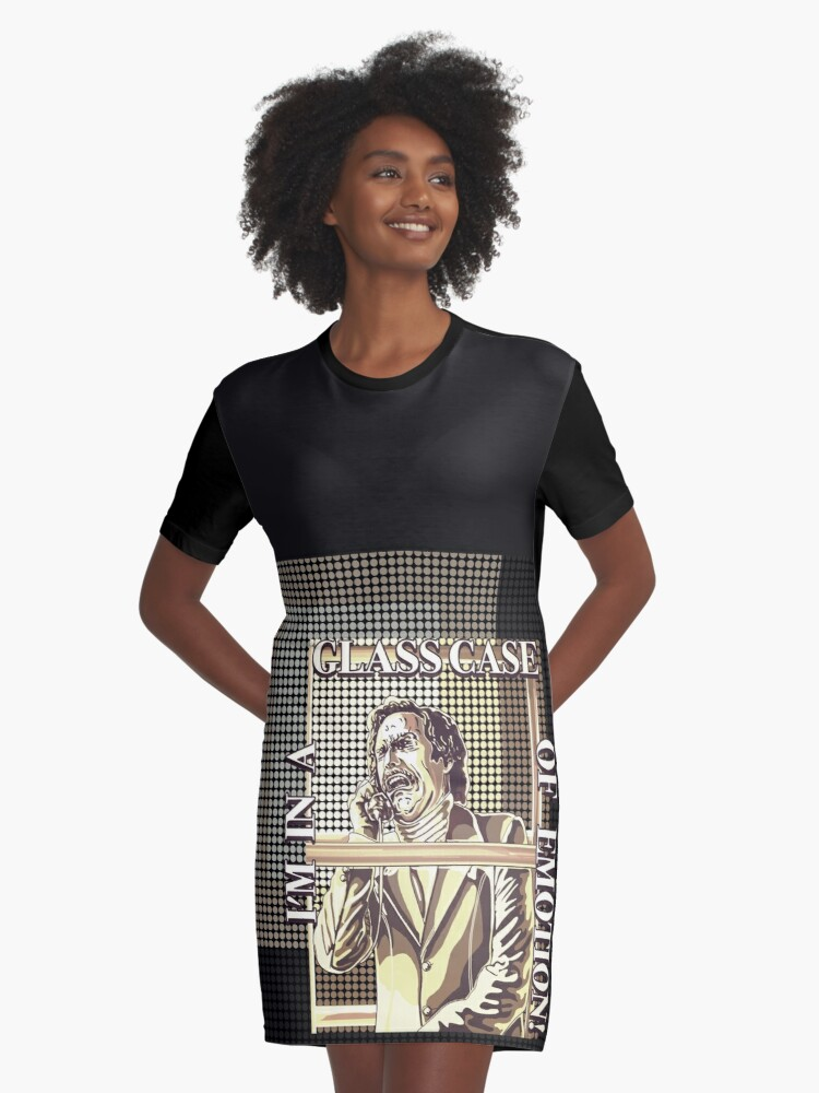 d75df208 Glass Case Of Emotion ; Super Awesome Will Ferrell Quote from Anchorman;  Original Illustration Graphic T-Shirt Dress