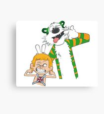 calvin and hobbes (2) Canvas Print