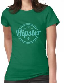 Hipster Sign Womens Fitted T-Shirt