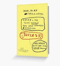 HOW TO BE SUCCESSFUL Greeting Card