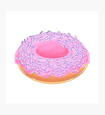 Strawberry Cream Donut with Purple Sprinkles Photographic Print