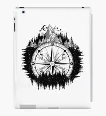 Mountain and compass iPad Case/Skin