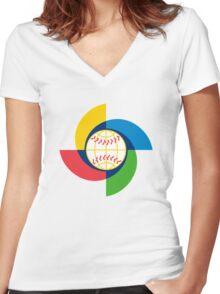 World Baseball Classic Women's Fitted V-Neck T-Shirt