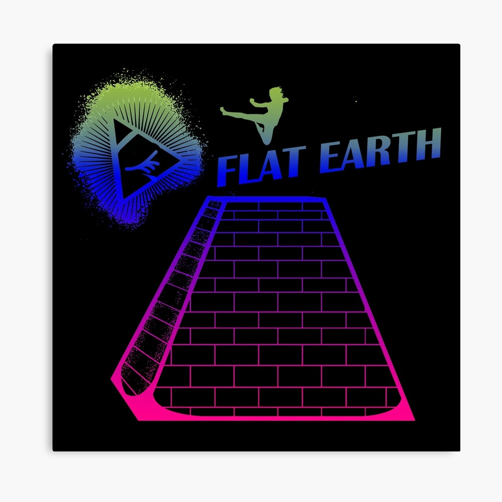 Flat Earth Designs - Flat Earth Jump Kicks the Top of the Illuminati Pyramid