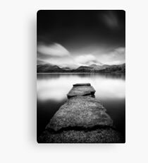 Isthmus Bay Black and White Canvas Print