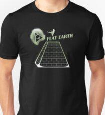 Flat Earth Designs - Flat Earth Jump Kicks the Top of the Illuminati Pyramid T-Shirt