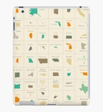 Federal states maps of the USA overview iPad Case/Skin