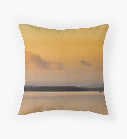 Long Jetty Sunset Throw Pillow