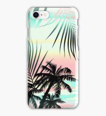 Black palms at sunset iPhone Case/Skin