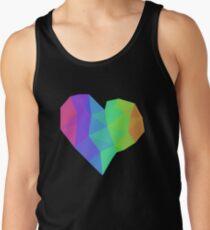 Geometric Rainbow Heart T-Shirt