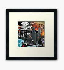 "my vision of ""Infinite Future Chaos"". Framed Print"