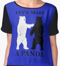 Let's Make A Panda tshirt Chiffon Top