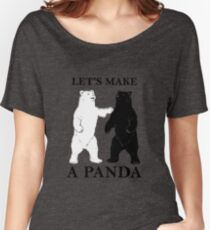 Let's Make A Panda tshirt Women's Relaxed Fit T-Shirt