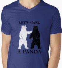 Let's Make A Panda tshirt Men's V-Neck T-Shirt