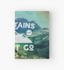 Forest Mountains Wanderlust Adventure Quote - The Mountains are Calling and I Must Go Hardcover Journal
