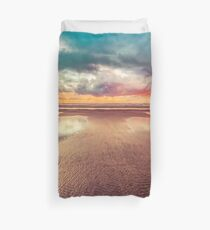 Ocean Sea Beach Water Clouds at Sunset - Hwy 101 Pacific Coast Highway Duvet Cover
