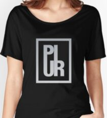 PLUR - Peace Love Unity Respect - Minimal Logo Women's Relaxed Fit T-Shirt