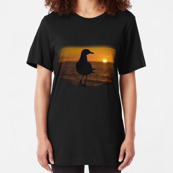 Seagull Sunset Slim Fit T-Shirt