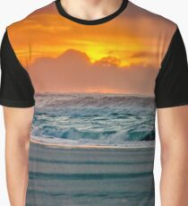 Ocean Sea Beach Water Clouds at Sunset - Pacific Coast Highway Graphic T-Shirt