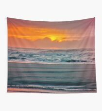 Ocean Sea Beach Water Clouds at Sunset - Pacific Coast Highway Wall Tapestry
