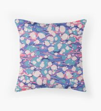 Hip Hop Love Psychedelic Purple Marble Paper Surf Pepe Psyche Throw Pillow