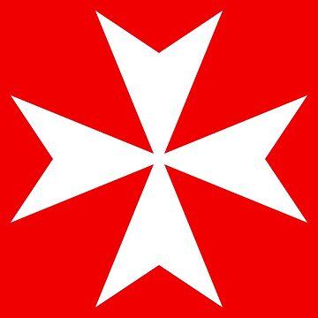 Order of St. John, Amalfi Cross, Hospilitallers, Maltese, Red White by 411drpkv4c