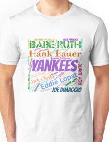 New York Yankees Top 50 Players Unisex T-Shirt