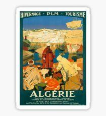 Algeria Vintage Travel Poster Restored Sticker