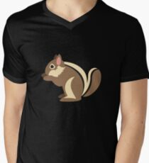 Emoji Chipmunk Mens V-Neck T-Shirt