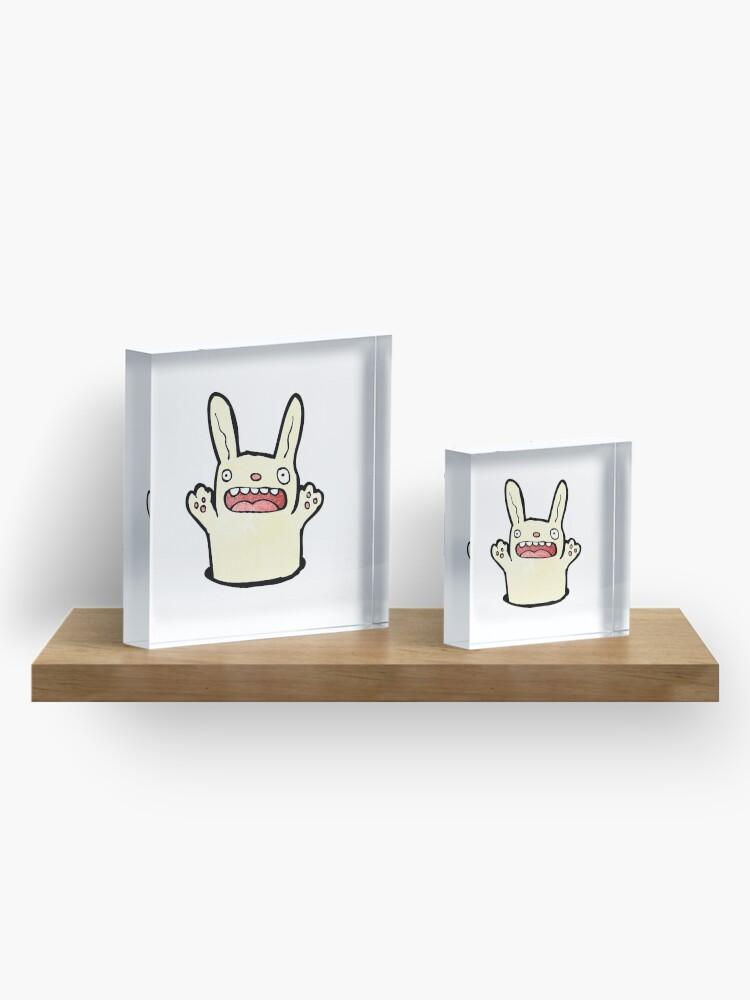 Alternative Ansicht von funny cartoon rabbit Acrylblock